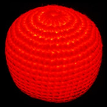 Red Woven Cotton Nighthack LED Hacky Sack